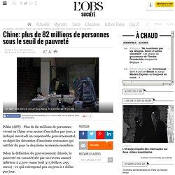 Chine: plus de 82 millions de personnes sous le seuil de pauvreté - 16 octobre 2014
