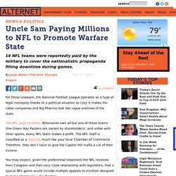 Uncle Sam Paying Millions to NFL to Promote Warfare State