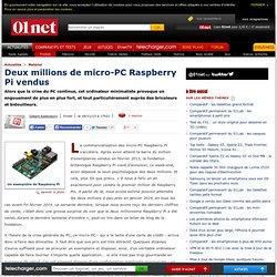 Deux millions de micro-PC Raspberry Pi vendus