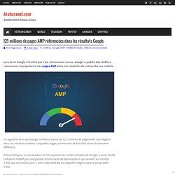 125 millions de pages AMP référencées dans les résultats Google