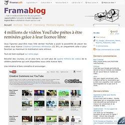 4 millions de vidéos YouTube prêtes à être remixées grâce à leur licence libre