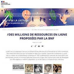Des millions de ressources en ligne proposées par la BnF