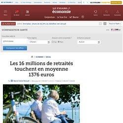 Les 16millions de retraités touchent en moyenne 1376euros