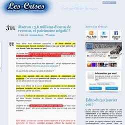 » Macron : 3,6 millions d'euros de revenus, patrimoine négatif !