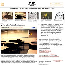 55 Thoughts for English Teachers