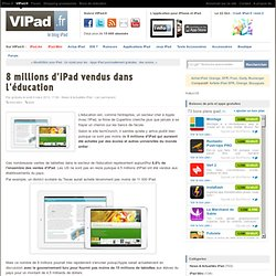 8 millions d'iPad vendus dans l'éducation