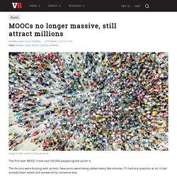 MOOCs no longer massive, still attract millions
