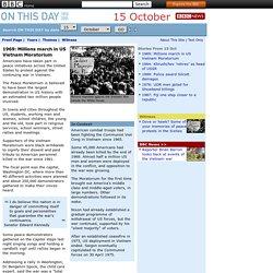 1969: Millions march in US Vietnam Moratorium