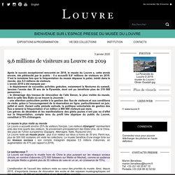 9,6 millions de visiteursau Louvre en 2019