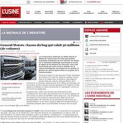 General Motors : leçons du bug qui valait 30 millions (de voitures)