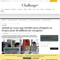 Airbnbpaie moins de 100.000 euros d'impôts en France pour 10 millions de voyageurs - Challenges.fr
