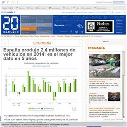 España produjo 2,4 millones de vehículos en 2014: es el mejor dato en 5 años
