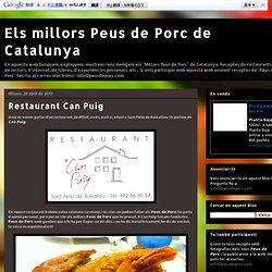 Els millors Peus de Porc de Catalunya: Restaurant Can Puig