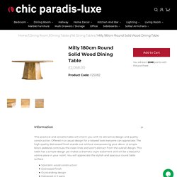 Milly Round Solid Wood Dining Table 180cm