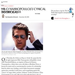 Milo Yiannopoulos's Cynical Book Deal