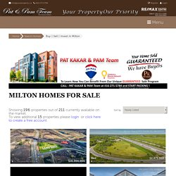 Looking For Best Houses For Sale in Milton