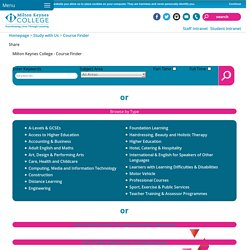 Milton Keynes College - Course Finder - MK College