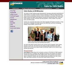 UW-Milwaukee: Center for Celtic Studies -- Home Page