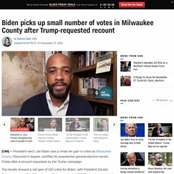 Biden picks up small number of votes in Milwaukee County after Trump-requested recount