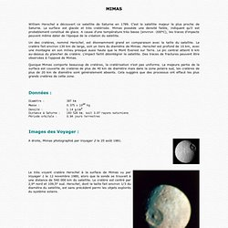 Mimas, satellite de Saturne (SI)