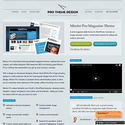 Pro Theme Design | Mimbo Pro WordPress Theme