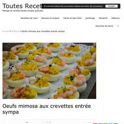Oeufs mimosa aux crevettes entrée sympa – Toutes Recettes