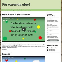 Mina låtar! - www.forvarendaelev.se