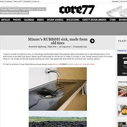 Minarc's RUBBiSH sink, made from old tires