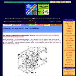 Minato Kohei - Moteur Magnétique - ENERGY archives - MDG 2008-09