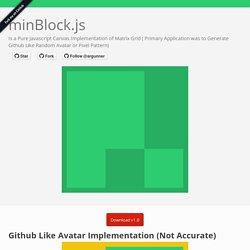 minBlock.js - Generate Github Like Random Avatar
