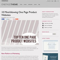 10 Mind-blowing One Page Product Websites