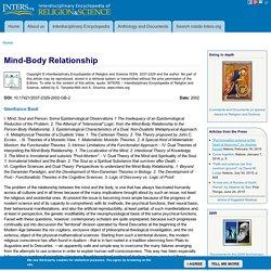 Mind-Body Relationship