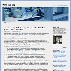 In which I notice a trend - Mind the Gap Blog | Nature Publishing Group