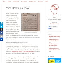 Mind Hacking a Book