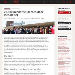 LSvB: 2013 - 23.000 minder studenten door leenstelsel