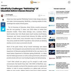 "MindFinity Challenges ""Rethinking"" Of Education Before Classes Resume - WriteUpCafe.com"