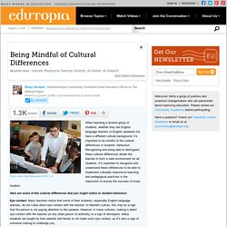 Being Mindful of Cultural Differences
