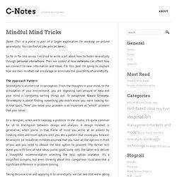 Mindful Mind Tricks