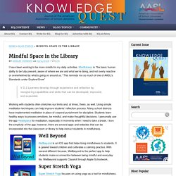 Mindful Space in the Library