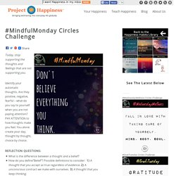 #MindfulMonday Circles Challenge - Project Happiness