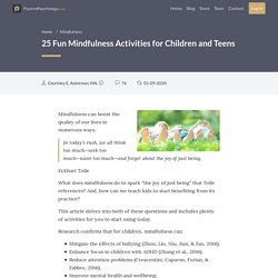 25 Fun Mindfulness Activities for Children and Teens (+Tips!)