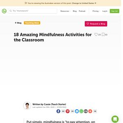 5 Minute Classroom Mindfulness Activities for Kids