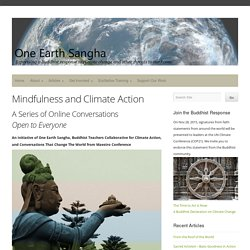 Mindfulness and Climate Action