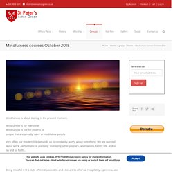 Mindfulness courses October 2018 - St Peter's