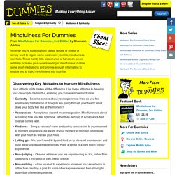 Mindfulness For Dummies Cheat Sheet (UK Edition)