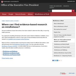 Where can I find evidence-based research on mindfulness?