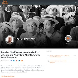 Hacking Mindfulness: Learning to Pay Attention to Your Own Attention, with Peter Baumann