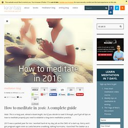 How to start meditation