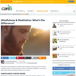 Mindfulness & Meditation: What's The Difference?