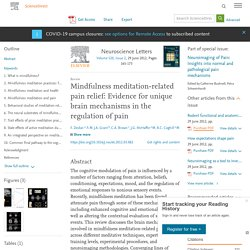Benefits of mindfulness journal article